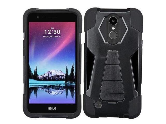 For LG K20 Plus/K10/V5 Black Inverse Advanced Armor Stand Protector Case Cover