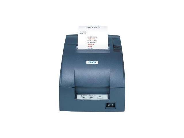 TM-U220D, Impact, two-color printing, 6 lps, Parallel interface, Power supply, Dark gray