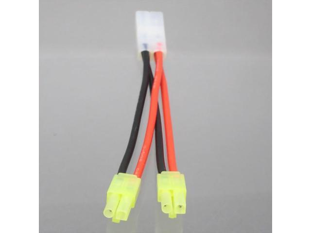 Tamiya 1x F to 2x M mini tamiya Parallel Y Splitter Harness Cable 16AWG Wire 4