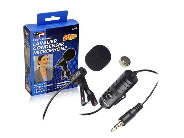 Canon eos rebel t5 camera external microphone vidpro xm l wired lavalier microphone 20