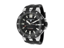 SWISS LEGEND Men's Challenger Black Textured Dial Black Silicone