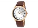 Bulova Men's Silver Dial Brown Genuine Leather