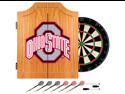 Trademark Poker LRG7000-OSU-BLK Ohio State University Dart Cabinet Includes Darts and Board