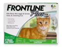 MERIAL 004FLTSP6-CAT Frontline Plus Flea & Tick for Cats and Kittens 8 Weeks or Older, 6 Month