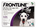 MERIAL 004FLTSP6-45-88 Frontline Plus Flea & Tick for Dogs 45-88 lbs, 6 Month