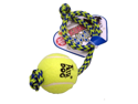 Kong Company - Med Squeaker Ball with rope- Blue-yellow Medium - AST21