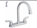 Ldr Chrome Exquisite Double Handle Kitchen Faucet  950-33124CP