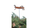 Village Wrought Iron RGS-16 Grasshopper Rusted Garden Stake