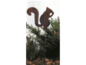 Village Wrought Iron RGS-84 Squirrel Rusted Garden Stake