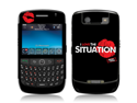 Zing Revolution MS-JYSH60015 BlackBerry Curve- 8900- Jersey Shore- I Love The Situation Logo Skin