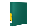 Bazic Products 4132-12 1.5 in. Green 3-Ring Binder with 2-Pockets