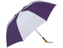 Haas-Jordan by Westcott 4367 58 in. Folding Golf Umbrella Purple-White