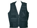 Humvee HMV-VS-BK-M Humvee Safari Vest Black Medium