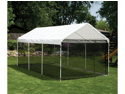 ShelterLogic 23531 10 ft. ×20 ft.  Canopy, 1-.38 in.  8-Leg Frame, White Cover, Screen Kit
