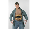WMU 562273 Latex Hunger Pains Chest Piece Character Costume