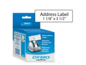 Dymo Corporation Dymo Corporation Address Labels, 3-.5 in.x1-.13 in., 130 Labels-RL, 2LR-BX, White