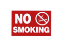 Advantus Corp. Advantus Corp. No Smoking Wall Sign, Punched for Hanging, 12 in.x8 in., White-Red- Case of 2