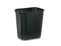 Rubbermaid Commercial Products Rubbermaid Commercial Products Rectangular Wastebasket,28-.13 Qt.,10-.25 in.x14-3-8 in.x15 in.,Black