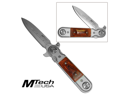 WMU 404790 Tactical Timber Folding Knife - Matte Finish - Dagger Style