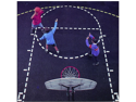 Jaypro Sports BCS-1 Basketball Court Stencil