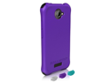 BALLISTIC LS0917-M985 HTC(R) One X(TM) LS Smooth Case (Purple&#59; 4 black, 4 purple, 4 teal & 4 white bumpers)