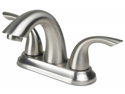 Ultra Faucets UF28346CP Two-Handle Brushed Nickel Lavatory Faucet With Pop-Up Dr