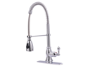 Ultra Faucets UF12200 Single Handle Chrome Kitchen Faucet With Pull Down Spout