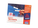 Avery 11136 Laser/Inkjet Inserts for Hanging File Folders- 1/5 Tab- 2 in- White- 100/Pack