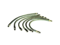 """VIAIR 92793 21"""" Stainless Steel Braided Leader Hose with Check Valve"""