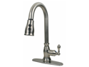 Ultra Faucets UF12103 Single Handle Stainless Steel Kitchen Faucet With Pull-Dow