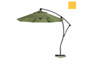 California Umbrella BA908-SP57 9 ft. Cantilever Market Umbrella Delux C Lift Bronze-Spun Polyester-Yellow