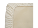Naturepedic Organic Cotton Natural Kids Ivory Easy Fit Jersey Bassinet Fitted Infant Mattress Sheet