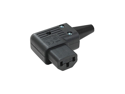 Generic IEC C13 Right Angle Power Cord Connector - Balck