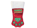 Kyjen Holiday S&S Large Soft Plush Christmas winter Paw Stocking With Pen Pet Accessories