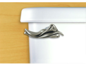 FunctionalFineArt Calla Lily Satin Pewter Toilet Handle - Angled Tank Mount
