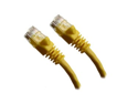 Category 5E, Yellow Ethernet Network, Patch Cable, Molded Snagless Boot, 75 feet