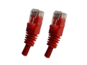 Category 5E, Red Ethernet Network, Patch Cable, Molded Snagless Boot, 100 feet