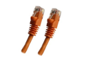 Category 5E, Orange Ethernet Network, Patch Cable, Molded Snagless Boot, 10 feet