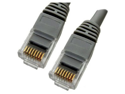 Category 5E, Gray Ethernet Network, Patch Cable, Molded Snagless Boot, 1 feet