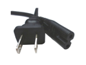 Notebook Power Cord - Figure 8 Style - 6 Feet - IEC 320 C7 to NEMA 1-15P