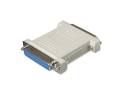 Ziotek Null Modem Adapter DB25 Female to DB25 Female