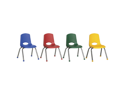 "Ecr4kids 12"" Classroom Preschool Playschool Kids Room Stack Chair With Chrome Legs Composite Ball Glides 6 Pc Assorted"