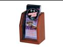 Wooden Mallet Countertop Brochure Holder Display Storage Rack Mahogany