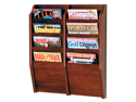 Wooden Mallet Cascade 8 Pocket Magazine Display Rack Mahogany