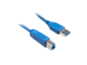 Offex USB 3.0 Printer / Device Cable, Blue, Type A Male to Type B Male, 1 foot