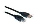 Cable Wholesale Type A Male to Type B Male USB 2.0 Printer/Device Cable, Black, 10 foot