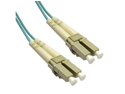 Cable Wholesale Fiber Optic Cable, LC / LC, Multimode, Duplex, 10-Gigabit Aqua, 50 / 125, 10 meter (33 foot)