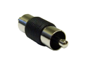 Offex RCA Coupler / Gender Changer, RCA Male to RCA Male, Nickel Plated