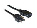 Offex Computer / Monitor Power Cord, Black, NEMA 5-15P to C13, 10 Amp, UL / CSA rated, 15 foot