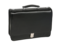 McKlein River North Leather Triple Compartment Briefcase